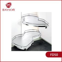 Accesorios de cocina Gabinete Organizador de la esquina de la bandeja de giro de Tire Rack (FD50).