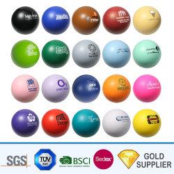 Ecológico de forma personalizada do gadget novidade logotipo impresso espuma de PU colorido Tamanho Mini Terapia ornamentos Vent Anti-Stress Squeeze Relievers-Balls iô-iô Bola de estresse de brinquedos