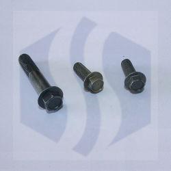 軍隊の緑の炭素鋼8.8の等級の凹面の溝の凹みの鋸歯状のない十六進フランジのボルト/DIN6921