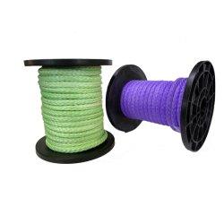 범선 연 옥외 파도타기를 하는 청새치 로그를 위한 3/16 인치의 UHMWPE 밧줄 100m 스풀 (자주색)