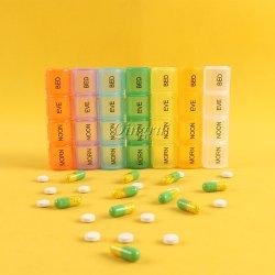 Plastik 7 Tagesw?chentlicher Pille-Kasten-Beh?lter und Pille-Kasten