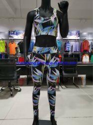 공장 도매 낮은 MOQ 좋은 품질은 형식 숙녀 각반 한 벌 착용을 주문을 받아서 만들었다 Fitness Gym Sport Bra