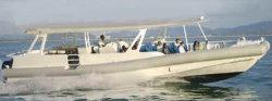 Aqualand 49feet 15mの45personsアルミニウム肋骨の乗客水タクシーかアルミニウム堅く膨脹可能なレスキューパトロールの攻撃艇(SR1480)