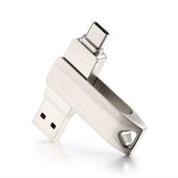 ترقية هدية معدنية USB3.0 محرك فلاش USB من النوع المقاوم للصدأ من النوع C ذاكرة USB
