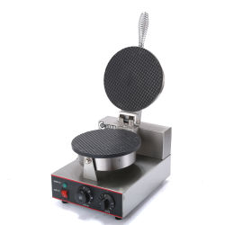 En acier inoxydable gaufre électrique cône Non-Stick Cast Baker