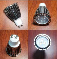 3 de alta qualidade*2W branco quente CREE LED GU10 Spotlight, 3W 4.5W 6W GU10 Lâmpada LED de luz interna direcionável