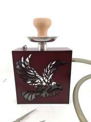 Mais recentes de Fábrica Padrão Eagle Design Madeira Hookah Shisha&Nargile Acrílico Cig Fumar Hookah Hookah Eletrônico de tubo de água