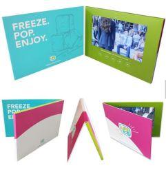 بطاقة تهنئة فيديو مُشايدة مُشتهِدة بمشغّل شاشة LCD مقاس 7 بوصات
