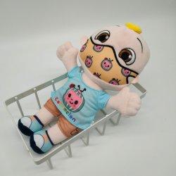 熱い販売のマスクのCocomelonのおもちゃが付いている柔らかいプラシ天のCocomelon Jjの人形