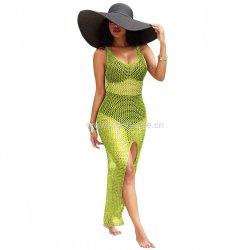 الصيف استخدام أصفر أخضر نحيق شاطئ فيشي اللباس shawl