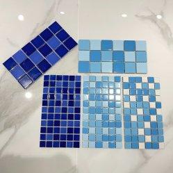 ديكور جيد بورسيلين خزفي أزرق تجانب بركة Mosaic