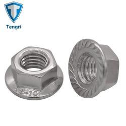 DIN6923 plateerde het Zink van het Roestvrij staal van het Koolstofstaal de Hexagonale Noot van de Flens