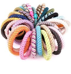 Design simples Kknekki laços de cabelo do anel de cabelo de Borracha