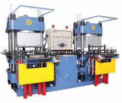 L'automatisation vide vertical Hydualic en caoutchouc de silicone/de moulage par injection compression Machine vulcanisation