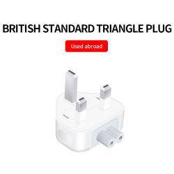 موصل قابل للفصل لمحول شاحن قياسي بريطاني بالجملة لـ محول شاحن طاقة iPad للكمبيوتر المحمول من Apple