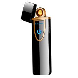 Encendedor USB creativos encargados de desarrollar el pulso de arco doble de metal personalizados de los hombres más ligeros de regalo