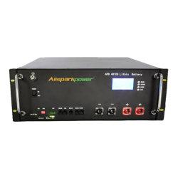 Allsparkpower 48V 100Ah 200Ah 4.8Kw 9.6Kw LiFePO4 Powerwall Bateria de iões de lítio para o Sistema de Armazenamento de Energia Solar PV Telecom Torre com ecrã LCD