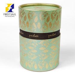 Ecológica Fsc 4c de tubo de papel de impresión de embalaje Caja de papel para el borde de oro