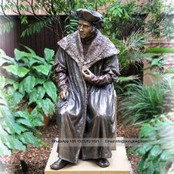 La taille de la vie célèbre Saint figure de saint Thomas More statue en bronze