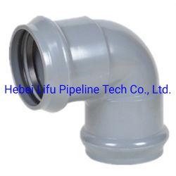Китай пластиковые трубы фитинги UPVC поставщика 90-градусное колено трубы и фитинги ПВХ давления фитинги для водоснабжения резиновое кольцо совместных Pn10