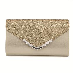 Les femmes du marché de gros distributeurs de luxe de l'élingue de concepteur de sac à main femme marque Crossbody Fashion Mesdames Lady fille Soirée en cuir de l'épaule Sequin sac d'embrayage