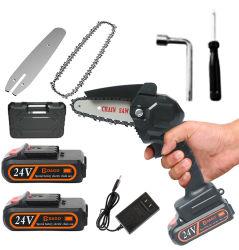 550W Mini scie à chaîne électrique One-Hand Woodworking Batterie au lithium