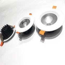 Venda a quente baixar as luzes para baixo do Kit de Luz de tecto LED do processo de fundição de moldes de Alumínio