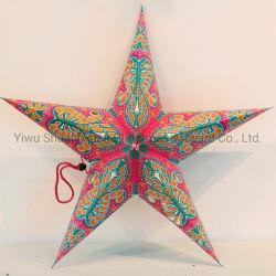 Estrela de papel de Natal para a decoração da festa de casamento de férias do ornamento do Gancho de suprimentos dons artesanais