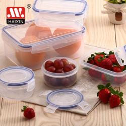 Casella rotonda di Foodcontainer di memoria dell'alimento del coperchio della clip della FDA LFGB (4PCS)