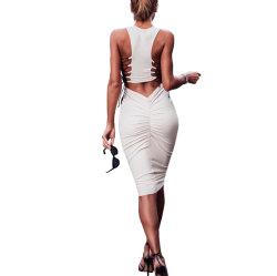 Calle de moda personalizada de prendas de vestir Mujeres Sexy Slim venda barata vestidos para damas