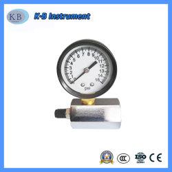 """2 Manômetro de Teste de gases de discagem, 0-15 psi com 3/4"""" Fpt Colector Sextavado"""