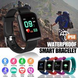 Gesto acorde Smart Smart Relógios de pulso taxa cardíaca Ver Homens Mulheres Relógios desportivos banda inteligente Fitness impermeável podômetro