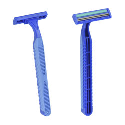 対の刃のステンレス鋼使い捨て可能な剃るかみそり(KD-2007L)