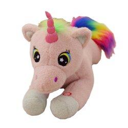 giocattoli dell'unicorno della peluche LED dell'indicatore luminoso di notte farciti 50cm