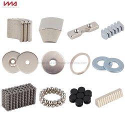 ISO900/IATF16949 強希土類永久ディスク / ブロック / アーク / リング / 台形 NdFeB ネオジウム鉄ボロン マグネット