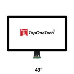 Большого размера 43 дюйма на открытой раме Pcap емкостные Multi 10 сенсорный экран датчика пленки с закаленного стекла интерфейс USB для оптических приклеивания ЖК-дисплей