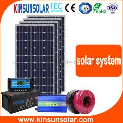 الطاقة الشمسية الطاقة الشمسية أحادية الخلية 3kw pv الوحدة الرئيسية النظام