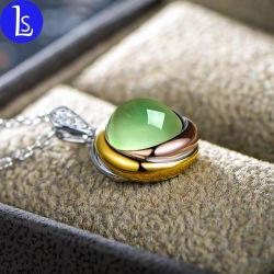 Comercio al por mayor piedras preciosas chapado en oro 18K de la cadena de moda Collar Colgante