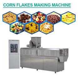 Mejor calidad de grano entero una nutrición saludable desayuno Cereal de hojuelas de maíz a granel instante el equipo de producción de maquinaria de extrusión
