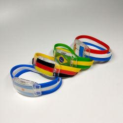 Светодиодный индикатор Sound-Activated браслет LED браслет World Cup флаг запальные браслет пользовательский цвет