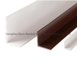Kundenspezifischer Größen-Sahne-Farben-Plastikstrangpresßling L Profil-Schoner dekorative Belüftung-Wand-Eckschutz