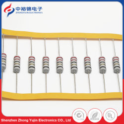 2W fil Knp DIP de composants électroniques de résistances à couche de carbone