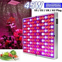 풀 스펙트럼 UV/IR LED 증식 전구 패널 45W 공장 성장기 램프 탄화수소
