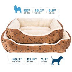 Orthopedic Dog Bed Memory Foam Pet Bed with Removable capa lavável