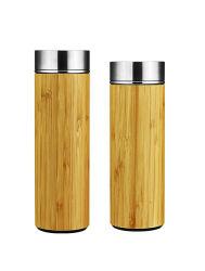 Двойные стенки из нержавеющей стали изотермическое транспортное средство не холодный теплый бамбук поездки питьевой воды с Infuser расширительного бачка