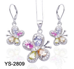 Новая конструкция 925 серебристые или латунной мода украшения в виде бабочки для продажи
