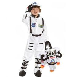 복장이 도매 고품질 아이들 Cosplay 사육제 경력 복장 백색 우주 비행사에 의하여 농담을 한다