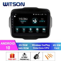ジープ 2016-2018 Renegade 用 Witson Car GPS Navigation DVD プレーヤー 「カー DVD プレーヤ」タッチスクリーン