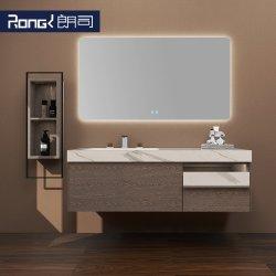 A madeira maciça parede simples Mountained moderna combinação armário de banheiro