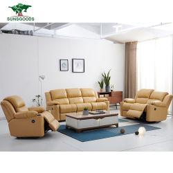 Proveedor de la fábrica moderna sala de estar sofá reclinable con portavasos